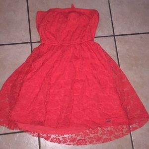 Coral red Hollister dress